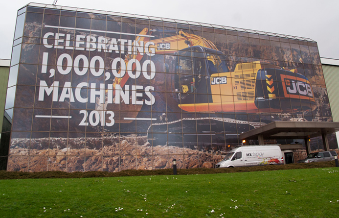 Our printed JCB Windows are on the telly-box