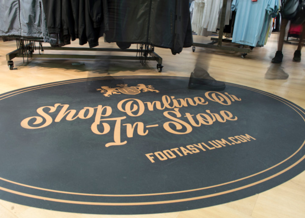 Floor graphics and signage Ingmans