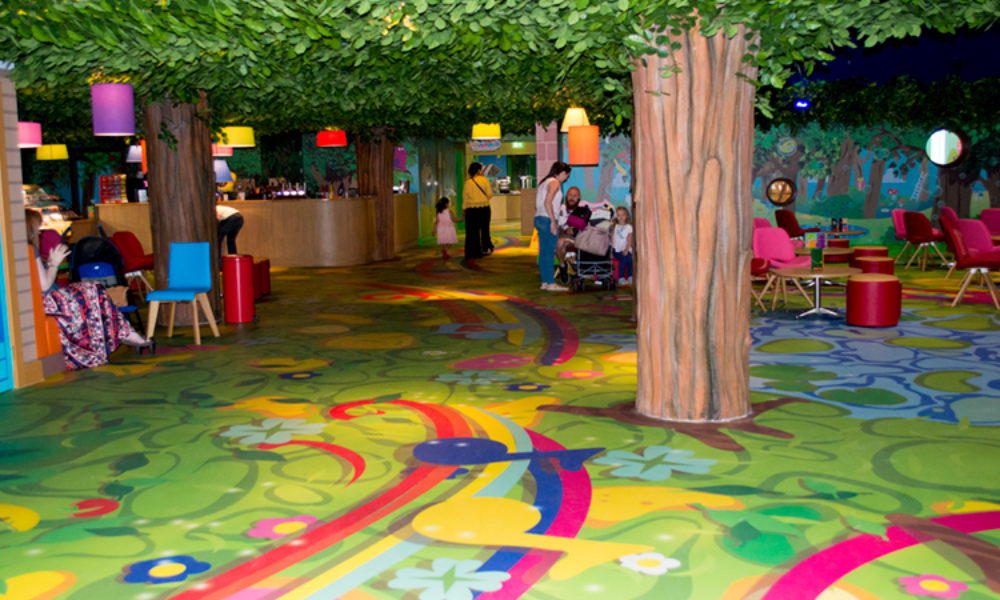 Theme park and hotel floor graphics